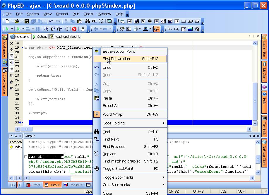 Ajax PHP Debugging With DBG Debugger