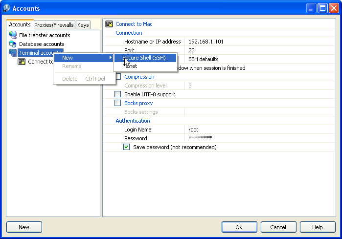 SSH Client in NuSphere PhpED