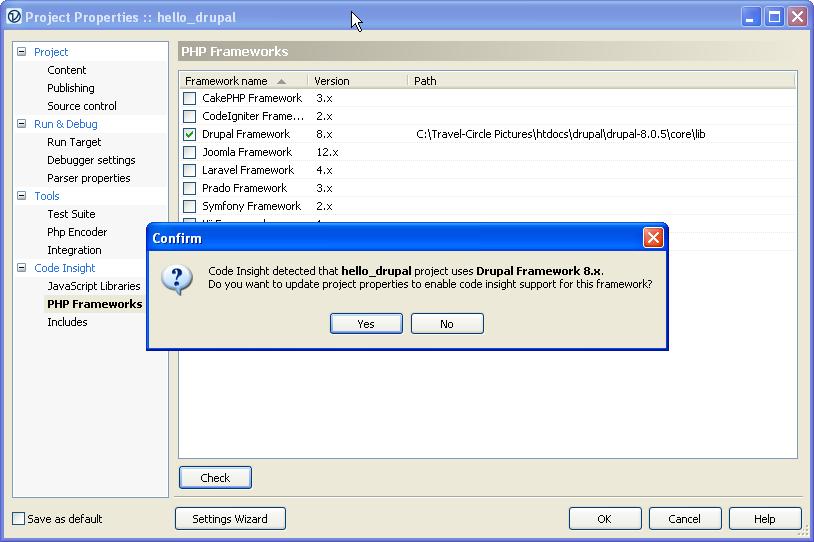 Drupal Development in PhpED IDE