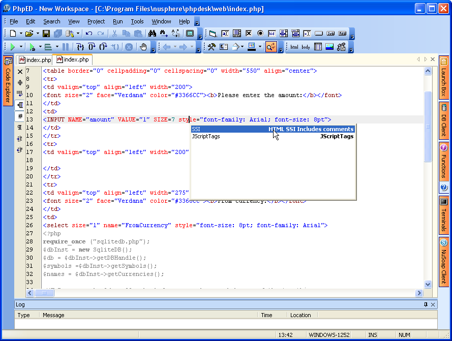 PHP Editor enhancements
