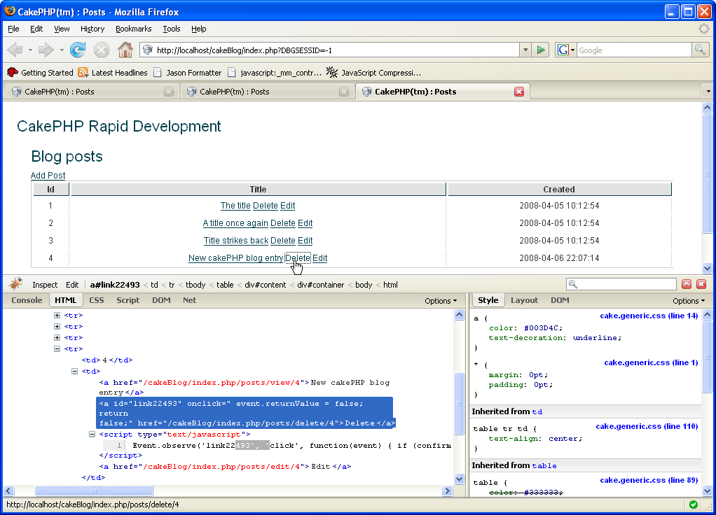 CakePHP Development :: page 10
