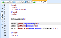 Smarty code in NuSphere's PhpED - smarty call php function